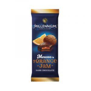 Шоколад молочный «Millennium Mousse» с муссовой и апельсиновой начинкой 135г