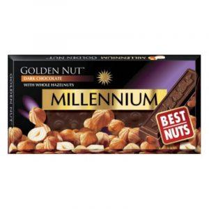 Шоколад черный Millennium с лесными орехами 100г