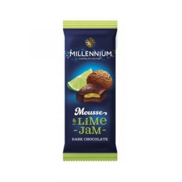 Шоколад черный «Millennium Mousse» с муссовой и лаймовой начинкой 150г