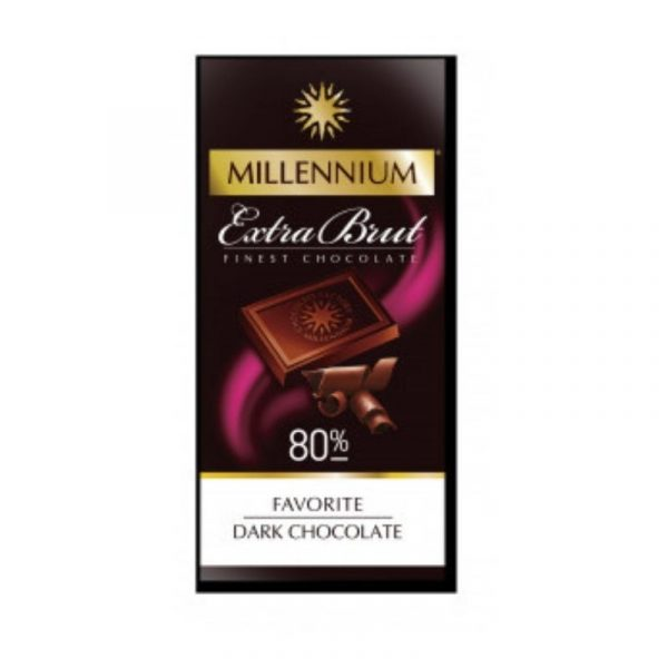 Шоколад «Millennium Favorite» Brut чёрный 80% 100г