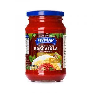 "Чумак Спагетти-соус ""Боскайола"", ст/б 340г"