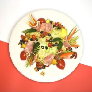 салат с панчеттой